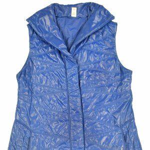 Lucy Women Blue Insulated Puffer Full Zip Vest SZ